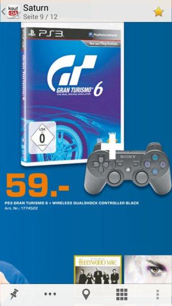 Gran Turismo 6 inkl. Dual Shock Controller bei Saturn Hannover für 59 Euro