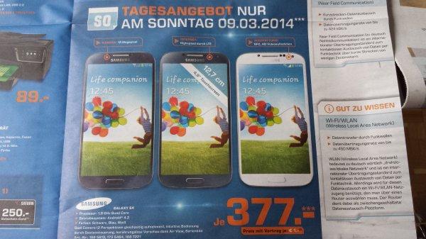 [Lokal Berlin + Potsdam] Samsung Galaxy S4 -  Saturn -  nur Sonntag 9.3.