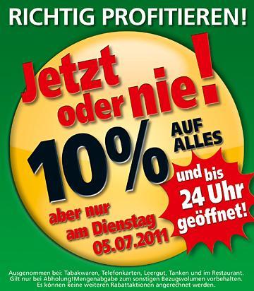 [Handelshof] Am 05.07.2011, 10% auf Alles! Gute Angebote!