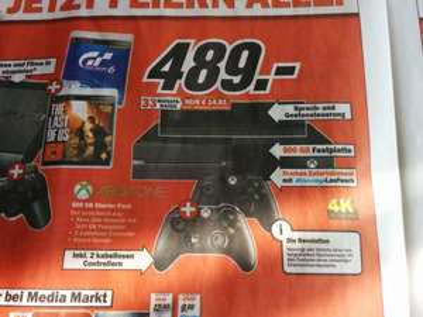 Xbox one inklusive 2. Controller Media Markt