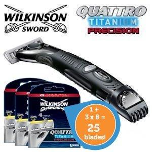 Wilkinson Sword quattro titanium precision - 25 klingen für unter 2€/Stk.