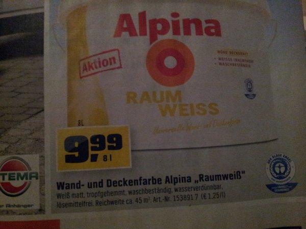 Alpina Raumweiss 8l lokal Obi Wetzlar