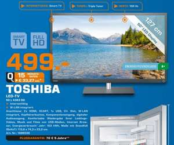Toshiba 50L4363DG für 499€ Lokal [Saturn Neuss]