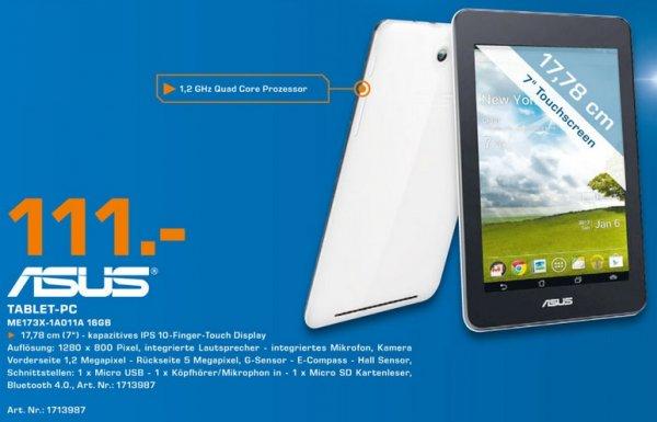 Asus MeMO Pad HD 7 16GB 111€ Tagesangebot 11.03 Lokal [Saturn Neuss]