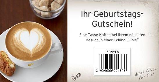 Gratis Geburtstags-Kaffee im Tchibo Newsletter