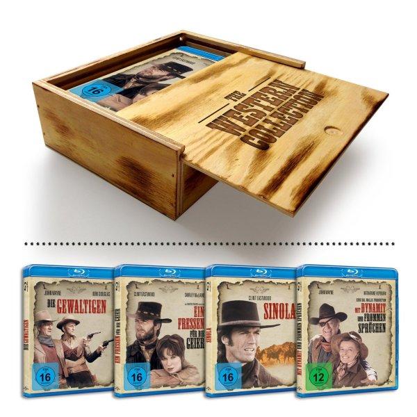 Western Collection Holzbox mit 4 Blu-rays bei Amazon im Angebot