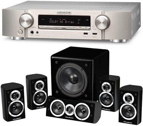 Marantz NR1504  Heimkino AV-Receiver und Wharfedale Moviestar DX-1 HCP 5.1 Lautsprechersystem [Schwarz]  € 644.- (Versandkostenfrei) @ soundpick.de