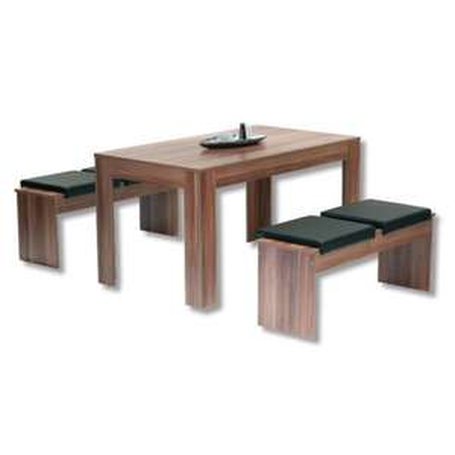ROLLER Tischgruppe TRAVEMÜNDE Esszimmer Essgruppe Esszimmertisch & 2 Sitzbänke