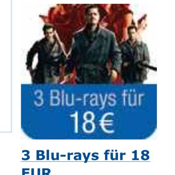 Amazon: 3 Blurays für 18,- Euro inkl. Versand - 133 Titel zur Auswahl