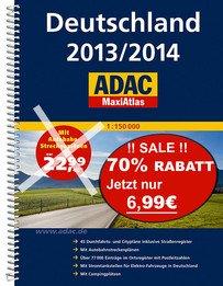 ADAC MaxiAtlas Deutschland 2013/2014 - Statt 22,99€ für 6,99€