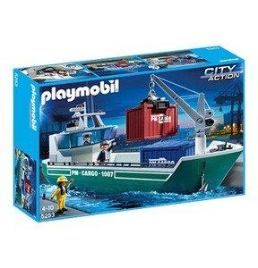 PLAYMOBIL Frachtschiff mit Verladekran (5253) für 27€