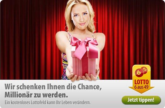 Tipp24 Lotto 6 aus 49 Gratis für Geburtstagskinder! (Newsletter abonnieren)