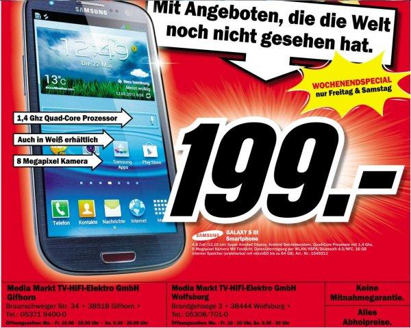 Samsung Galaxy S3 16GB 199€ - Lokal WOB/BS