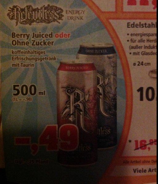 Relentless Energy - Berry Juiced o. Ohne Zucker 0,49€