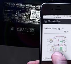 Rettungssticker für Mercedes Fahrzeuge ab BJ 1990