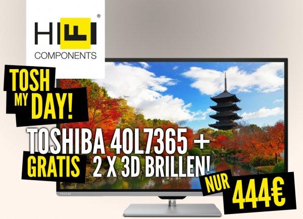"""Mal was kleines: 40""""-TV Toshiba 40L7365 für 444€ (idealo: 543)"""