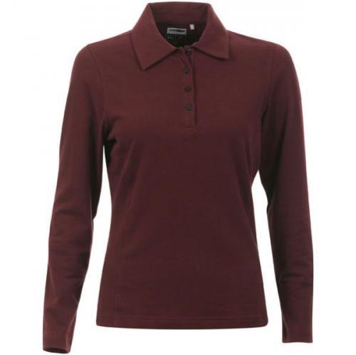 Women's Adidas 4 Button Polo T-Shirt - Burgundy nur £3.99 versandfrei @thehut.com