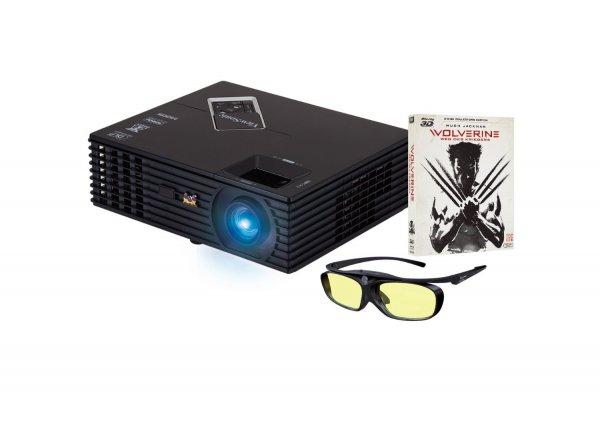 [amazon.de Blitzangebot] ViewSonic PJD7820HD inkl. BD: Wolverine: Weg des Kriegers, Beamer schwarz für 599 €