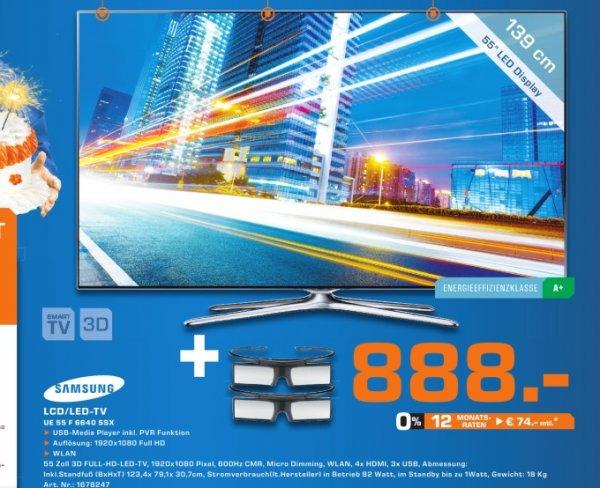 [Lokal] Samsung UE55F6640 3D-LED-TV, 138 cm (55 Zoll), Full HD, 600 Hz, DVB-T/-C/-S, Dolby™ Digital Plus