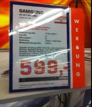 SAMSUNG UE46 F610 SSX lokal für 599,00 €