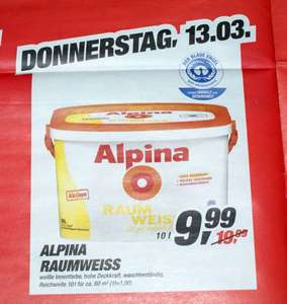 Alpina Raumweiss 10 L