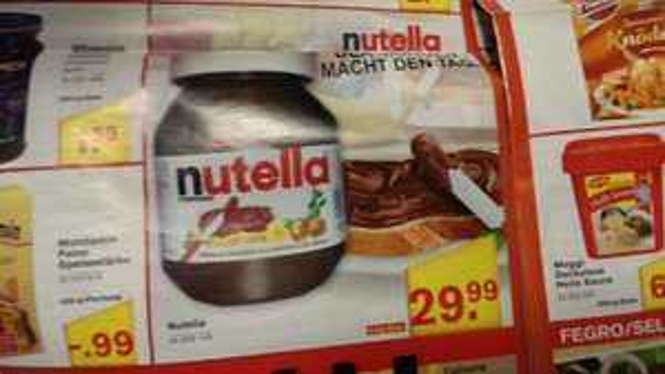 Nutella 5 kg Glas 29.99 netto @Fegro/Selgros