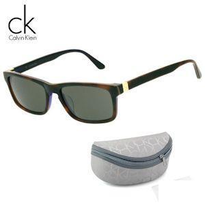 Calvin Klein Sonnenbrille mit Rahmen in Havanna und Gläsern in Grau, mit Original-Etui für 45,90 Euro inkl. Versand: Heute bei iBOOD