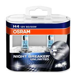 OSRAM NIGHT BREAKER Unlimited H4 Doppelpack Box 14,45€ mit Prime 11,45 @ Amazon