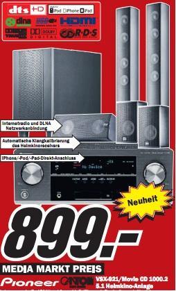 Media Markt WÜ/SW/BNS: Pioneer VSX-921 mit Canton 1000.2 für 899€ (PVG 1085€), Nikon S2500 für 77€ und mehr!