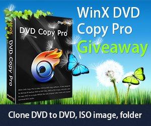 [Zeitlich begrenzte] Kostenlos WinX DVD Copy Pro (wert 49.95 USD)