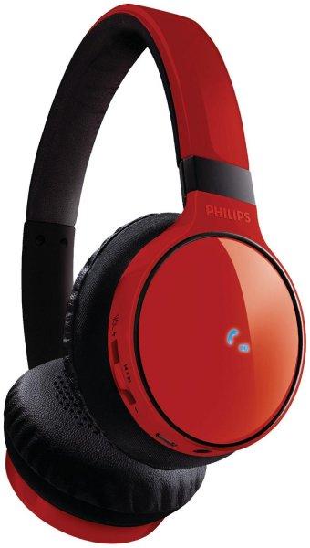 Philips SHB9100 in rot für 49,99€@Amazon - Bluetooth Kopfhörer mit Freisprechfunktion