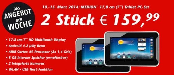 "[Lokal; Essen] 2 MEDION 7"" Tablet PCs für 159,99"