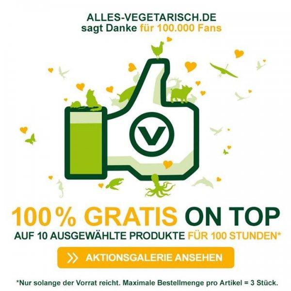 Alles-Vegetarisch.de: 10 Produkte mit 1+1 gratis- Aktion