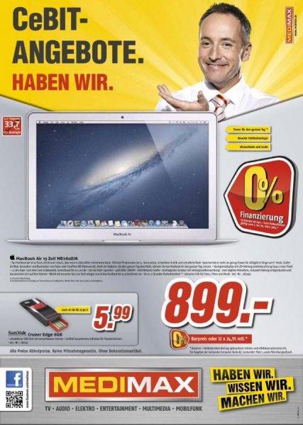 MacBook Air 13 Zoll (2013 Modell) mit evtl. 256 GB SSD für 899,- [vermutlich lokal Berlin]