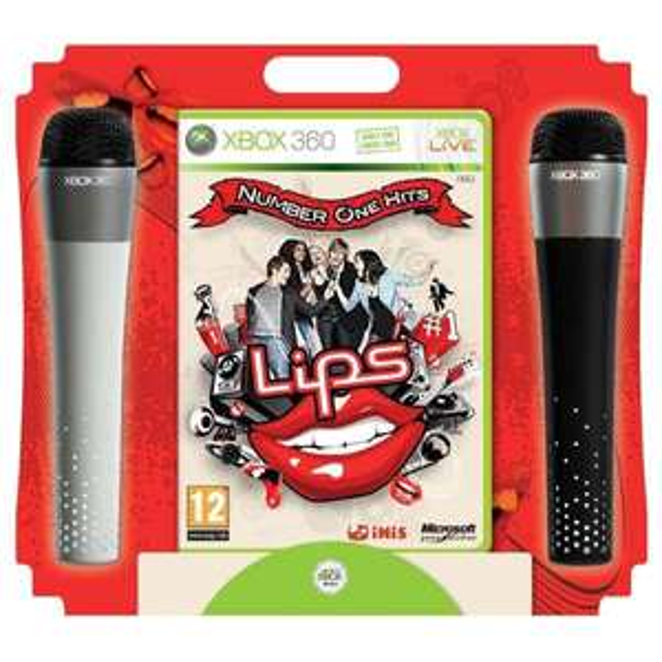 """XBox 360 - Lips """"Number One Hits"""" (inkl. 2 Wireless Mikrofone) für €15,59 [@Zavvi.com]"""