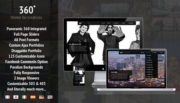 "WordPress Creative & Blog Theme ""360"" gratis anstatt $45 (ca 33€) @themeforest.net"