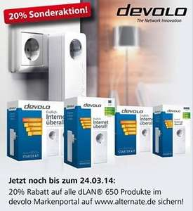[Alternate] Devolo 650 Stromadapter 20% günstiger