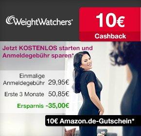 3 Monate Weight Watchers ONLINE für 25,80 € statt 50,85 € ohne Anmeldegebühr durch 10 € qipu-Cashback u. 10 € amazon.de Gutschein