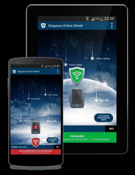 [Android] Steganos Online Shield VPN - 2 GByte Gratis-Traffic
