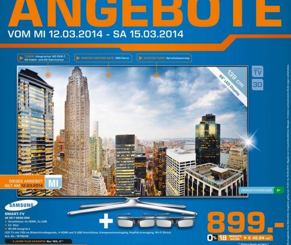 Samsung UE55F6500 für 899€ Tagesangebot Lokal [Saturn Gelsenkirchen]