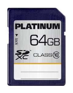Amazon:Platinum 64 GB Class 10 SDXC Speicherkarte=21,99Euro