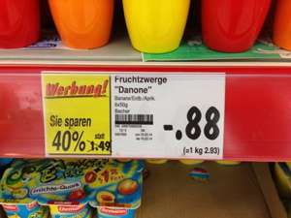 Fruchtzwerge 6er für 88ct bei kaufland