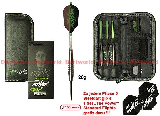 Phil Taylor Phase 5 Darts ( 26 g silber) mit  Tasche für nur 63.90 Euro statt 99,95 Euro. (Keie Versandkosten !!!!!!)