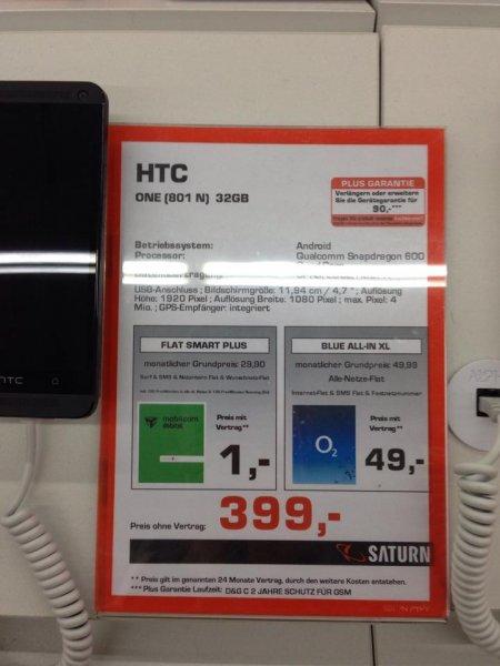 [LOKAL?] HTC One 32 GB für 399 Euro (Saturn Baunatal)