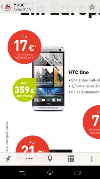 [Base] HTC ONE M7 für 359€
