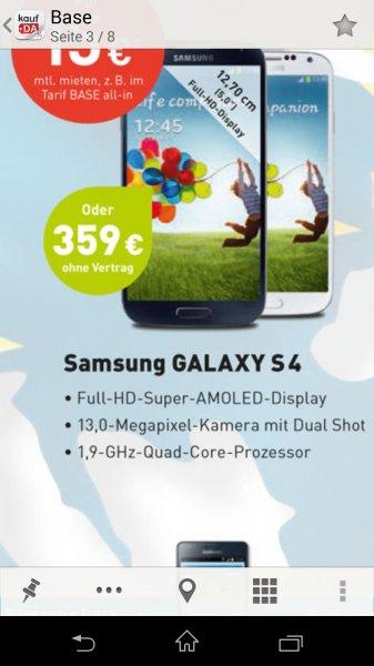 [Base] Samsung Galaxy S4 für 359€