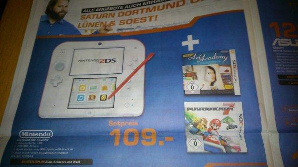 Nintendo 2DS + Mario Karte 7 + Art academy