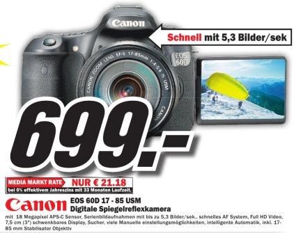 Canon EOS 60D Kit 17-85 IS USM [Mediamarkt Plauen]