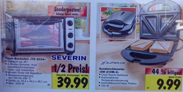 [lokal WHV] Kaufland Sandwich-Toaster 9,99€ und Tisch-Backofen 39,99€