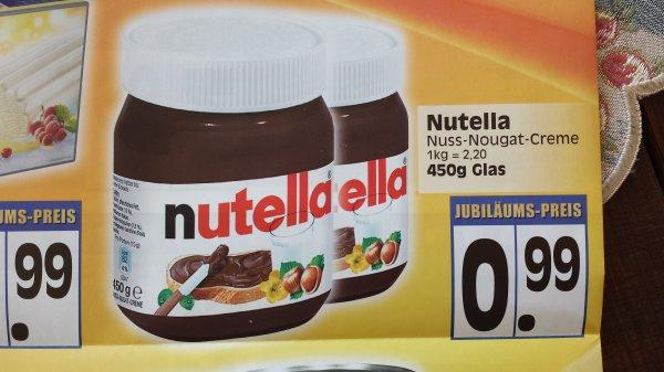 [Lokal] Nutella 450g für 0,99€